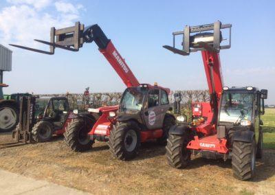 Drie Manitou machines in bedrijf gesteld