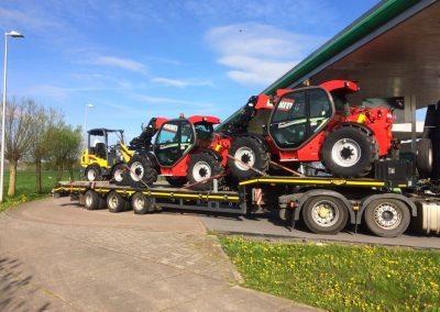 Drie nieuwe machines afgeleverd