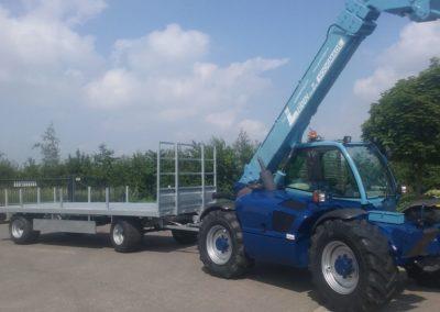 Manitou in bedrijfskleur afgeleverd bij Aannemersbedrijf Van Leijden uit Hoogmade